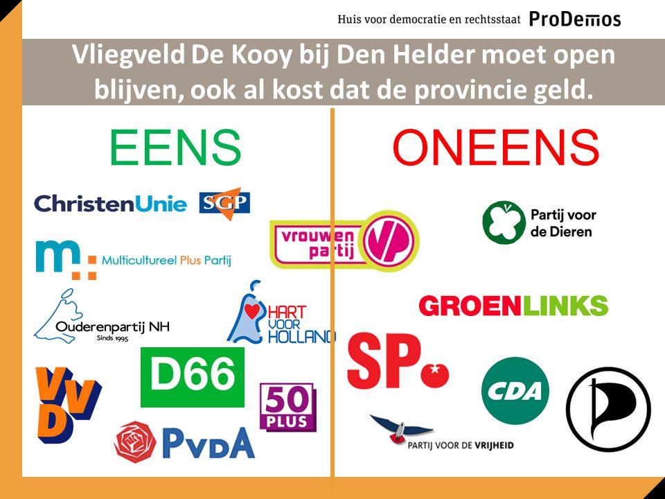 EENSONEENS Vliegveld De Kooy bij Den Helder moet open blijven, ook al kost dat de provincie geld.