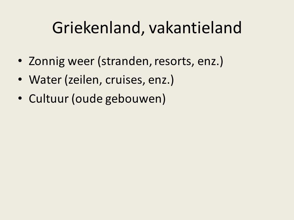 Zonnig weer (stranden, resorts, enz.) Water (zeilen, cruises, enz.) Cultuur (oude gebouwen)