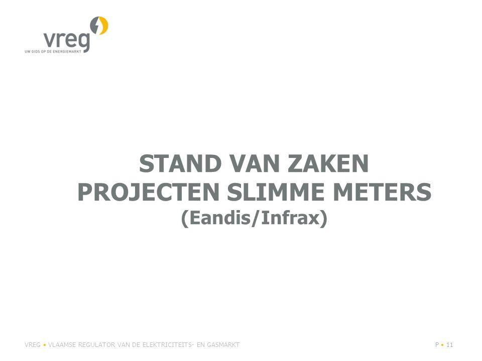 STAND VAN ZAKEN PROJECTEN SLIMME METERS (Eandis/Infrax) VREG VLAAMSE REGULATOR VAN DE ELEKTRICITEITS- EN GASMARKTP 11