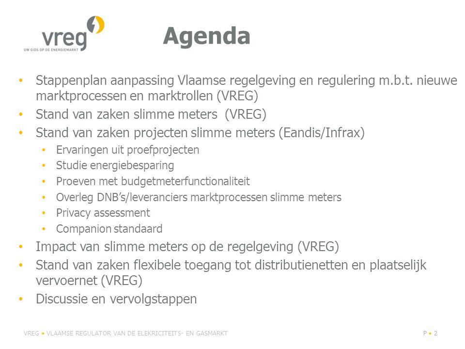 Agenda Stappenplan aanpassing Vlaamse regelgeving en regulering m.b.t.