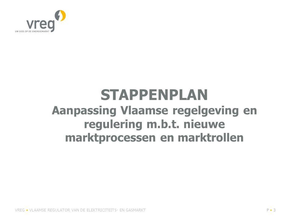 STAPPENPLAN Aanpassing Vlaamse regelgeving en regulering m.b.t.