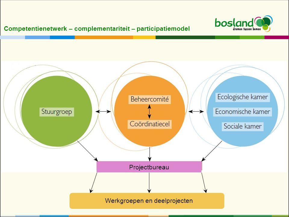 Competentienetwerk – complementariteit – participatiemodel Projectbureau Werkgroepen en deelprojecten