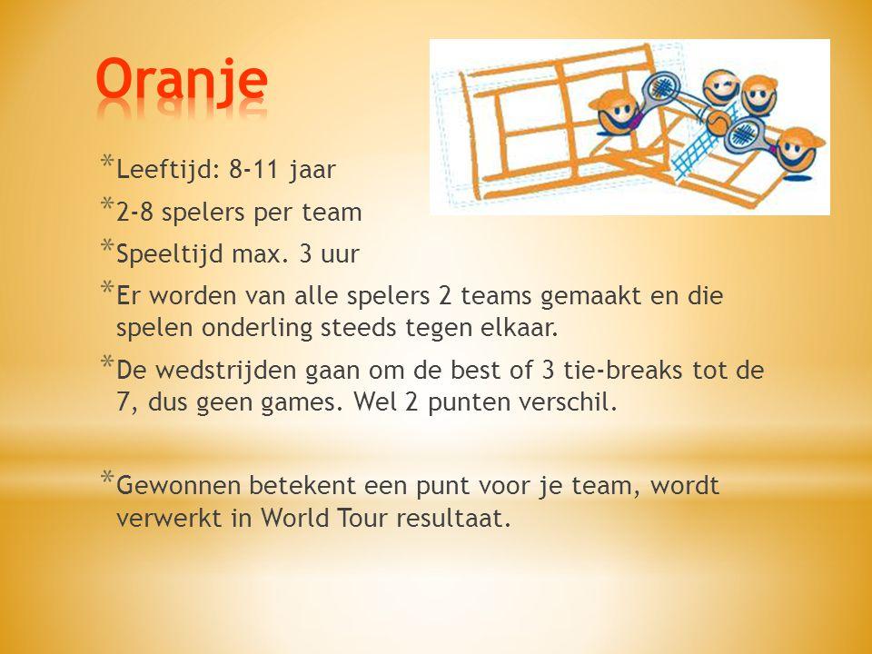 * Leeftijd: 8-11 jaar * 2-8 spelers per team * Speeltijd max.