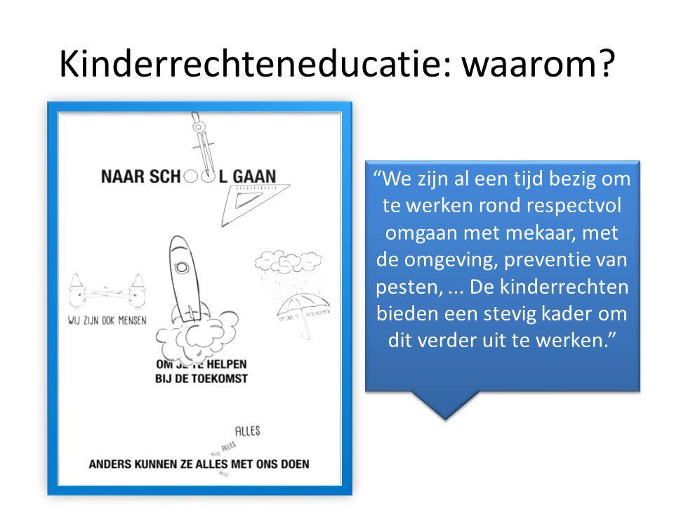 Kinderrechteneducatie: waarom.