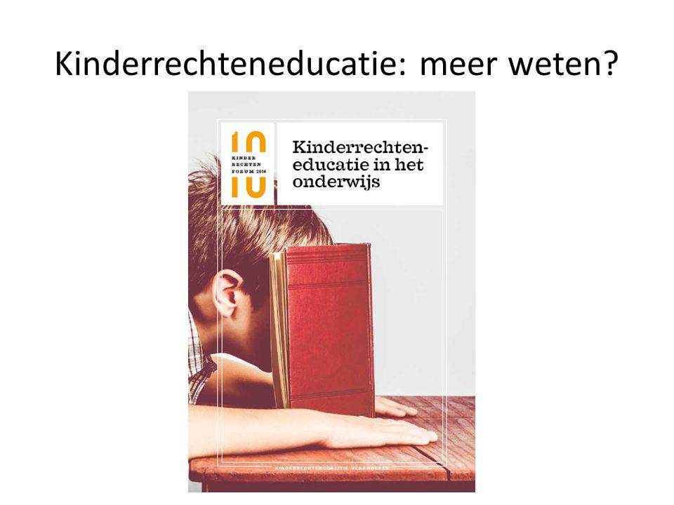Kinderrechteneducatie: meer weten?