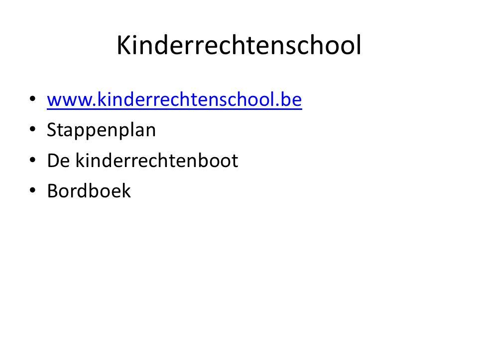 Kinderrechtenschool www.kinderrechtenschool.be Stappenplan De kinderrechtenboot Bordboek