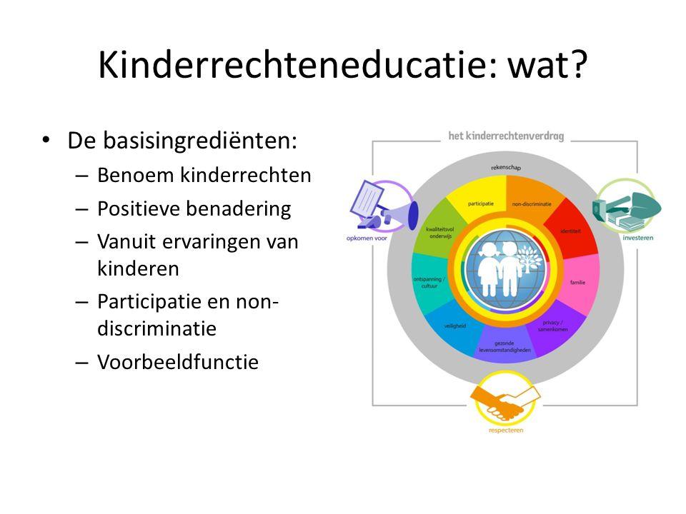 Kinderrechteneducatie: wat.