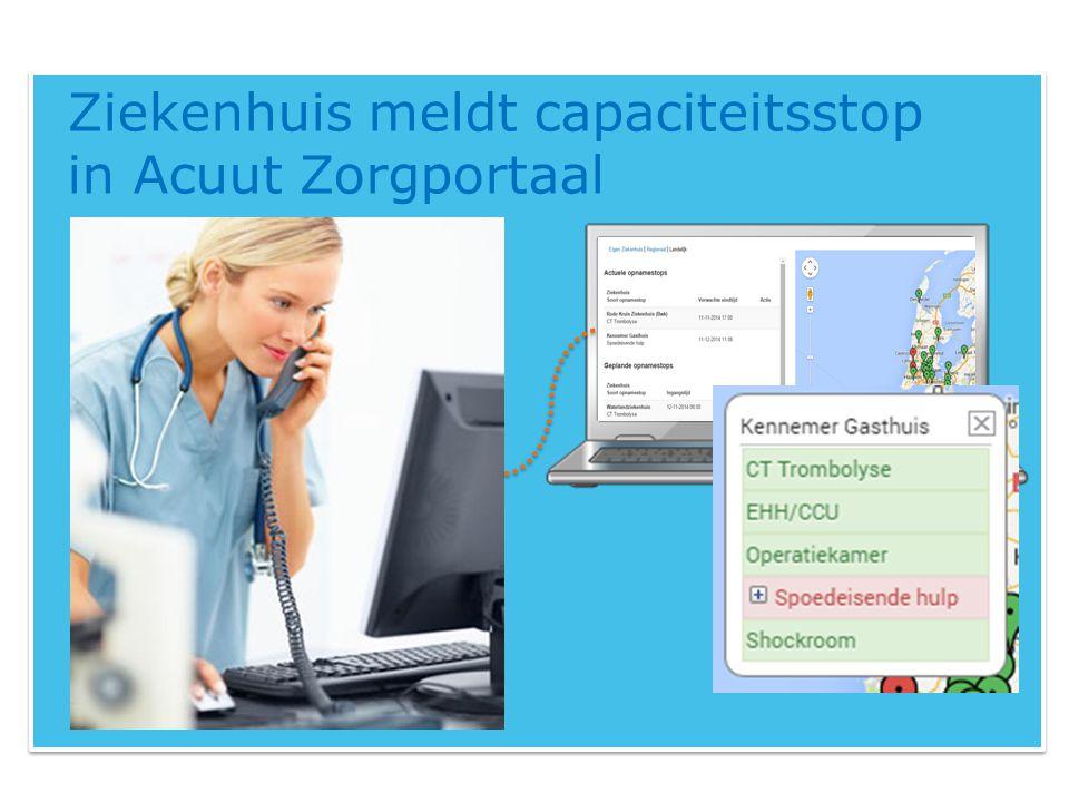 Ziekenhuis meldt capaciteitsstop in Acuut Zorgportaal