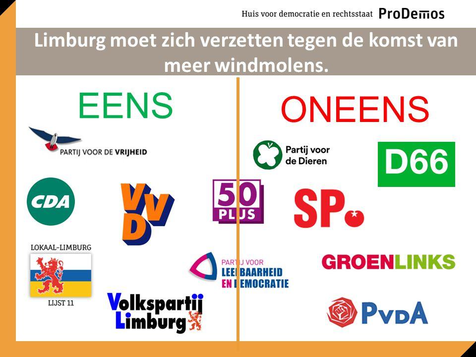 EENS ONEENS Limburg moet zich verzetten tegen de komst van meer windmolens.