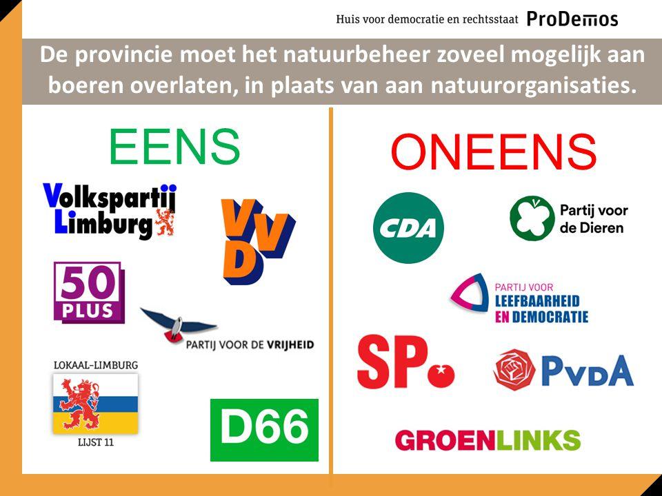 EENS ONEENS De provincie moet het natuurbeheer zoveel mogelijk aan boeren overlaten, in plaats van aan natuurorganisaties.