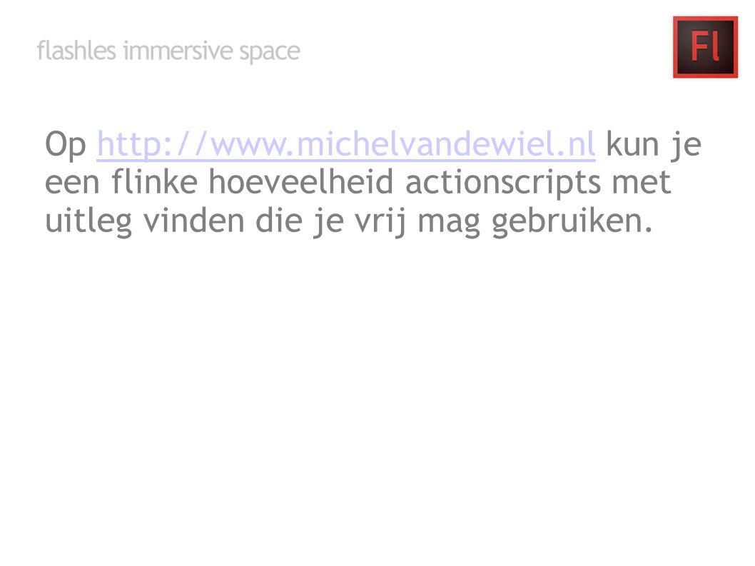 Op http://www.michelvandewiel.nl kun je een flinke hoeveelheid actionscripts met uitleg vinden die je vrij mag gebruiken.http://www.michelvandewiel.nl