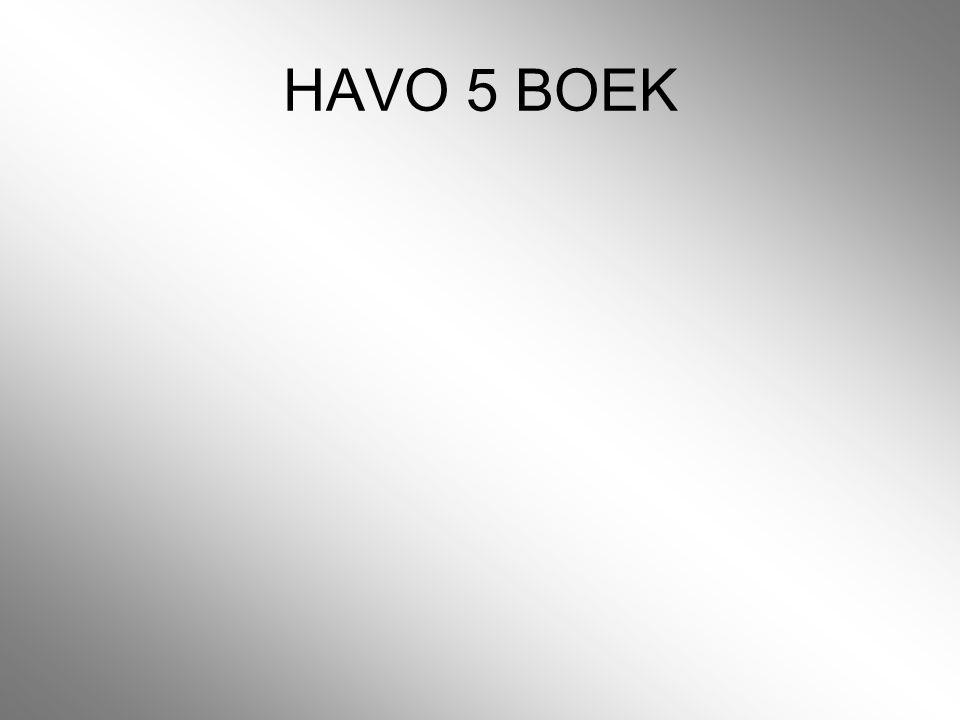 HAVO 5 BOEK