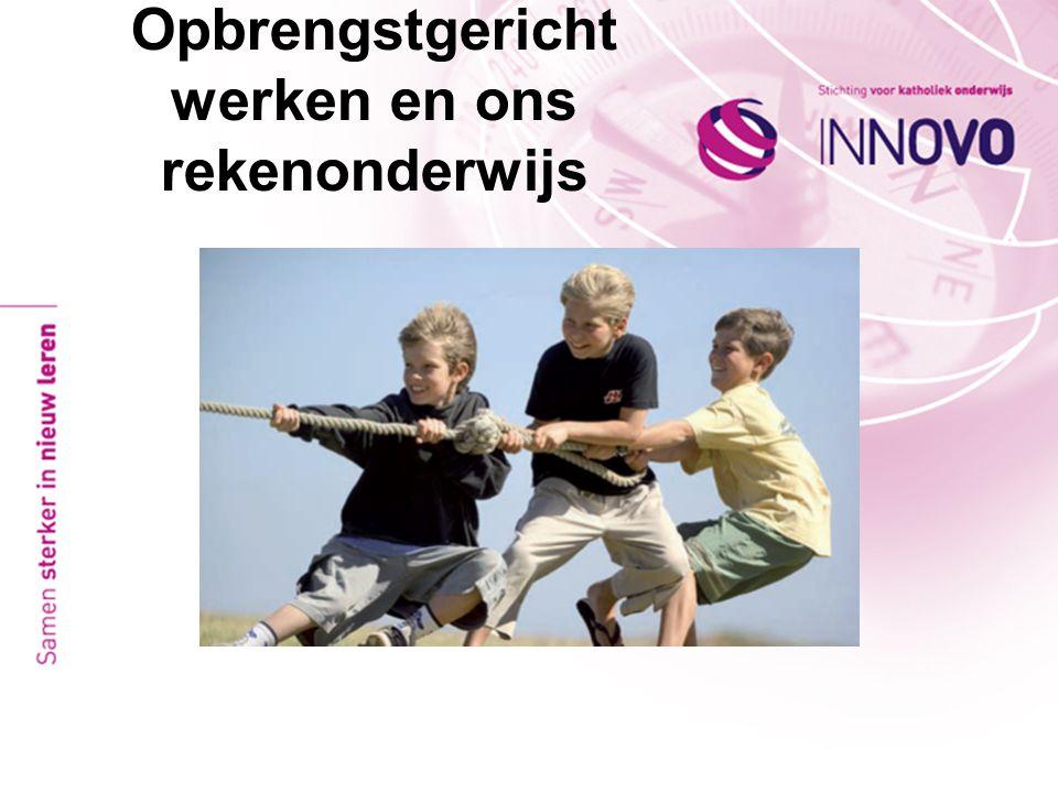 Opbrengstgericht werken Kenmerken van scholen met goede resultaten 1.Een sterke, vooral op de kwaliteit van het onderwijs gerichte schoolleiding.