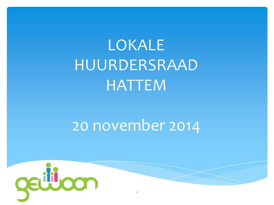 LOKALE HUURDERSRAAD HATTEM 20 november 2014 1