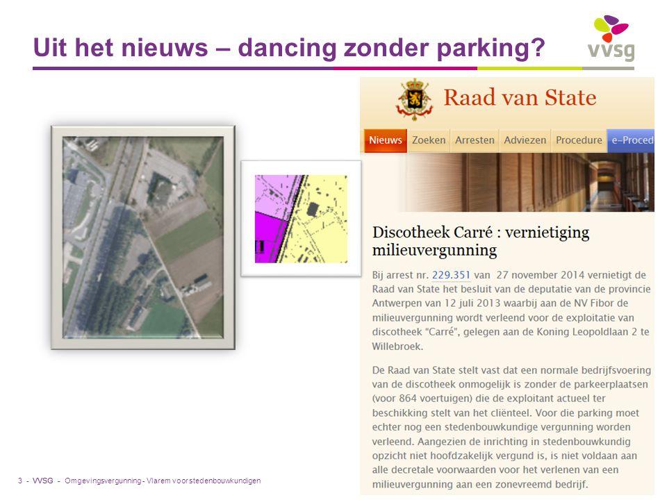 VVSG - Uit het nieuws – dancing zonder parking.