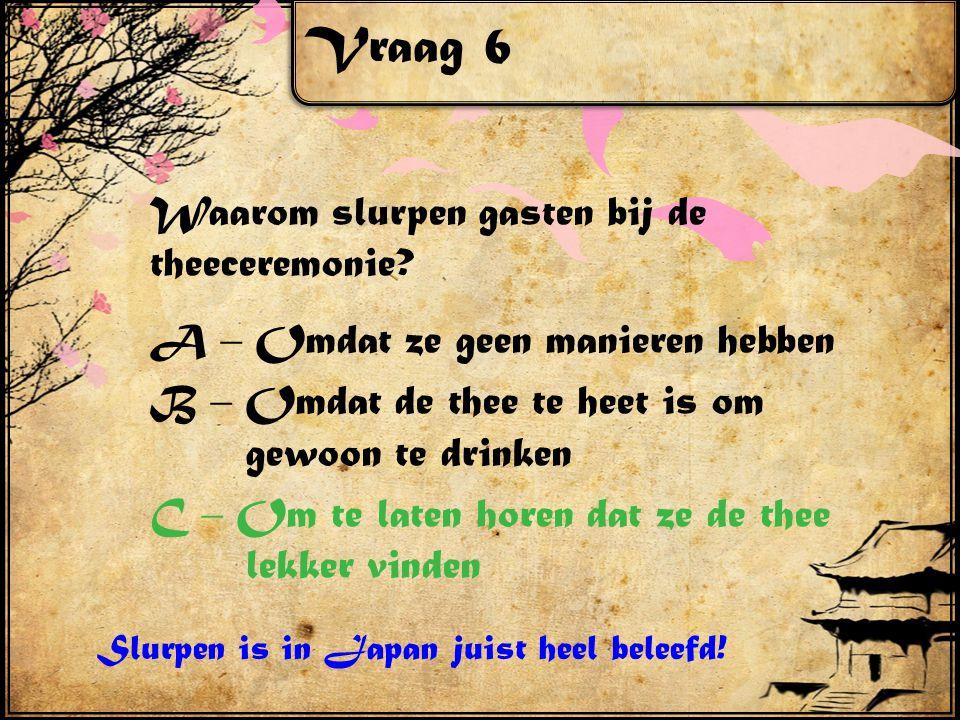 Vraag 7 In Nederland gebruiken we het alfabet.In Japan gebruikt men karakters.