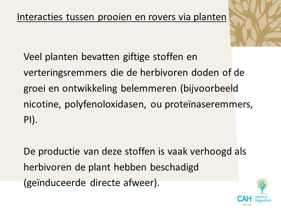 Veel planten bevatten giftige stoffen en verteringsremmers die de herbivoren doden of de groei en ontwikkeling belemmeren (bijvoorbeeld nicotine, poly