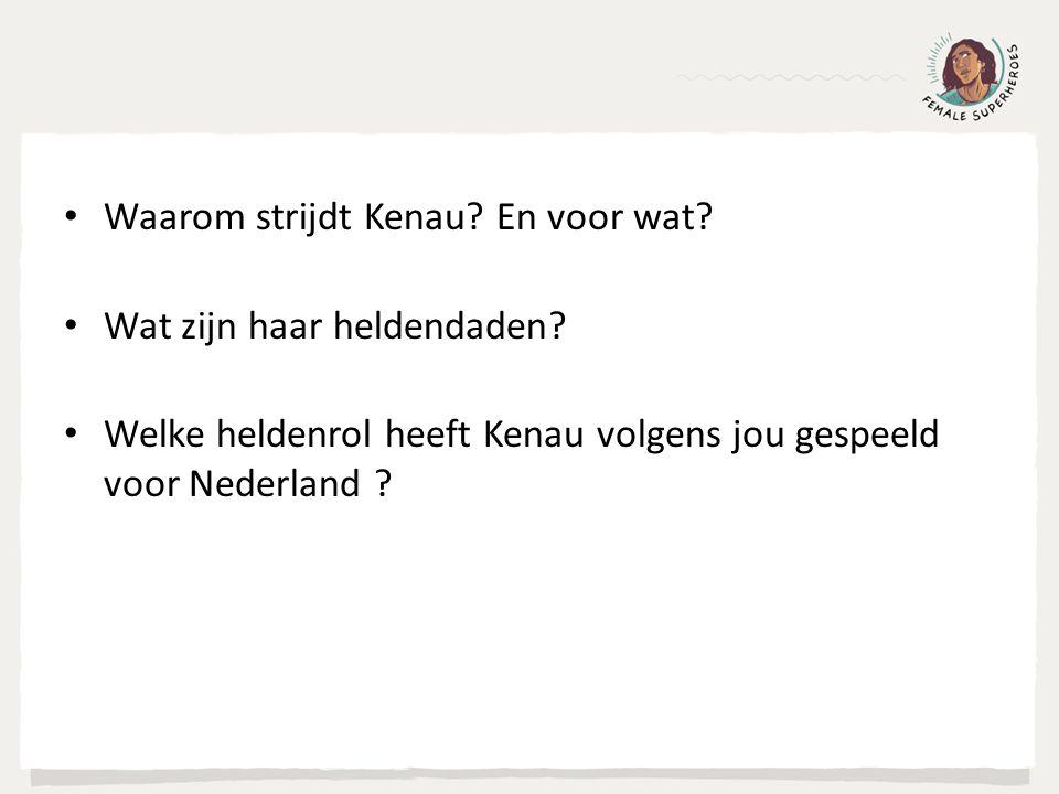 Waarom strijdt Kenau? En voor wat? Wat zijn haar heldendaden? Welke heldenrol heeft Kenau volgens jou gespeeld voor Nederland ?