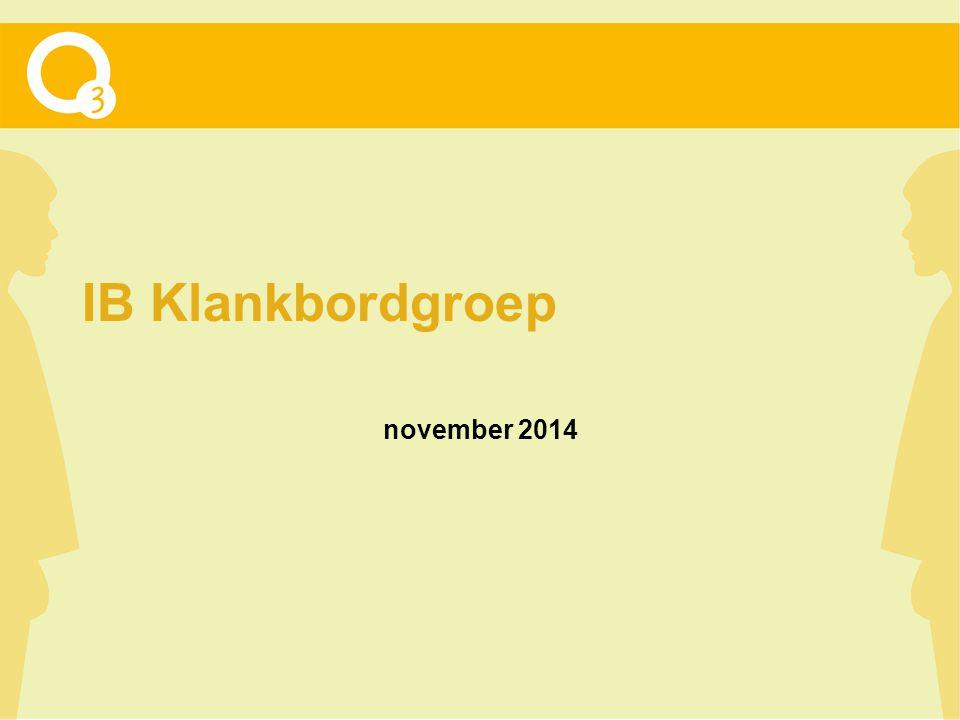 IB Klankbordgroep november 2014