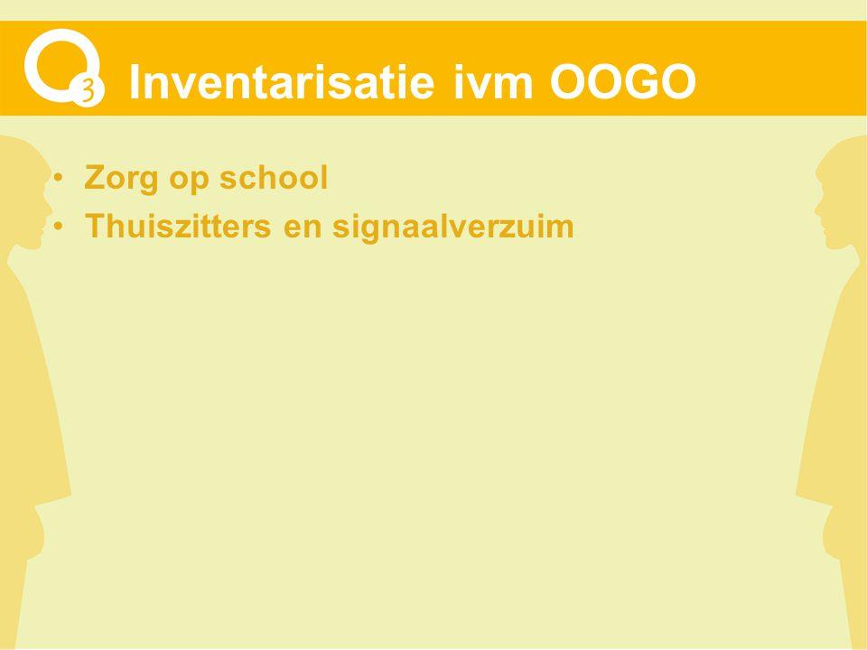 Inventarisatie ivm OOGO Zorg op school Thuiszitters en signaalverzuim