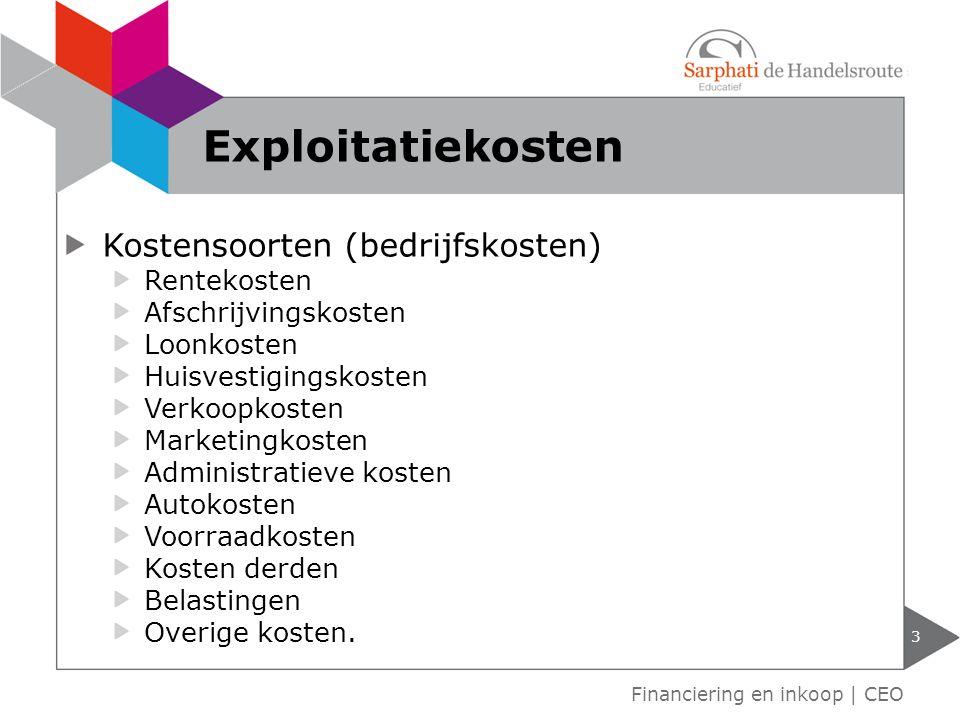 Interest Jaren Maanden Dagen. Financiering en inkoop | CEO Rentekosten 4