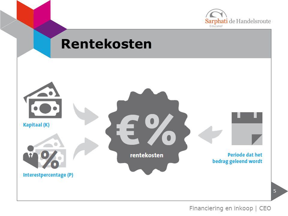 Kosten voor het houden van voorraden: Rentekosten Ruimtekosten Risicokosten.