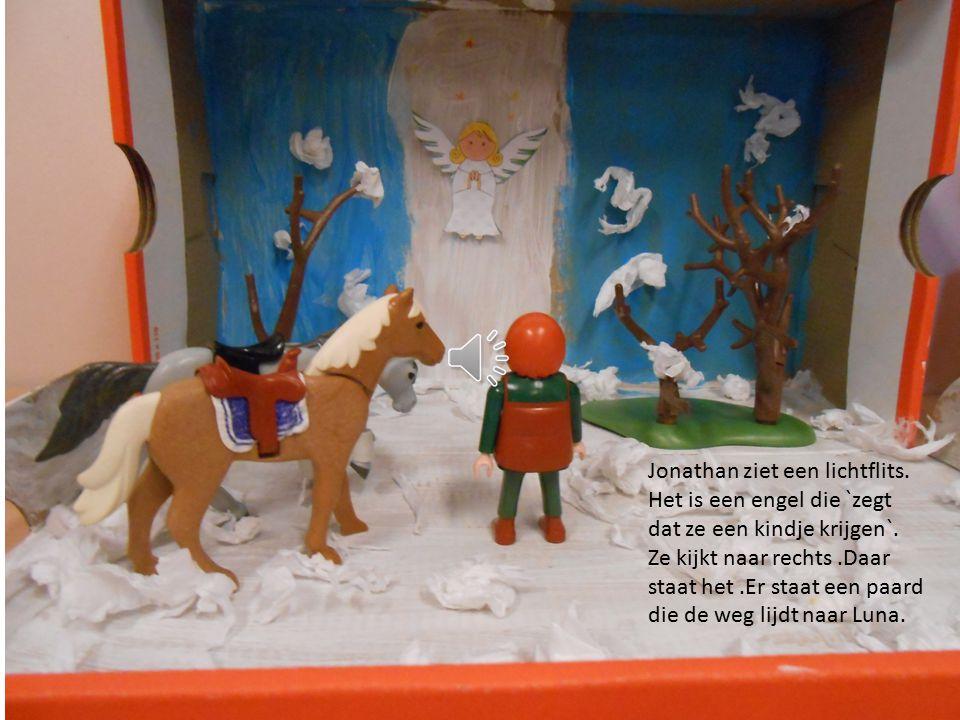 Ze verdwaalden Luna liep naar rechts en Jonathan naar links ze zien niks behalve sneeuw.