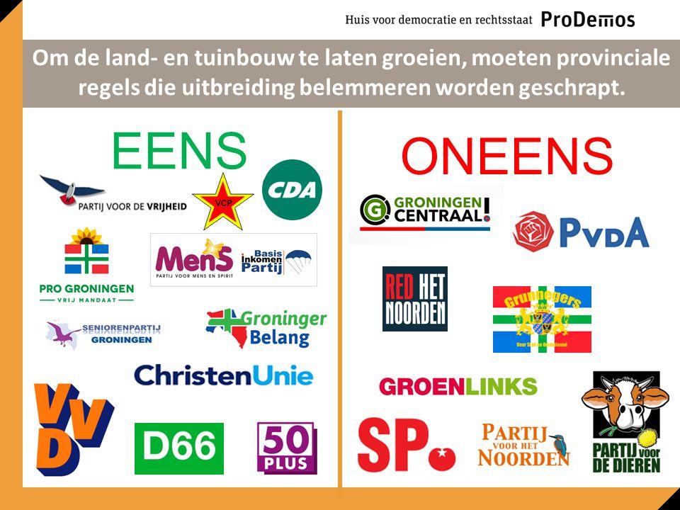 EENS ONEENS Om de land- en tuinbouw te laten groeien, moeten provinciale regels die uitbreiding belemmeren worden geschrapt.