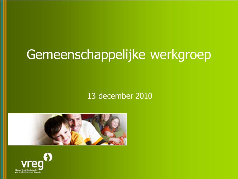 Gemeenschappelijke werkgroep 13 december 2010