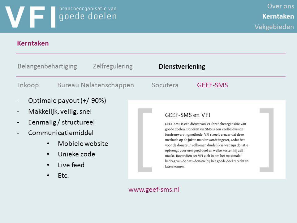 -Optimale payout (+/-90%) -Makkelijk, veilig, snel -Eenmalig / structureel -Communicatiemiddel Mobiele website Unieke code Live feed Etc. Over ons Ker