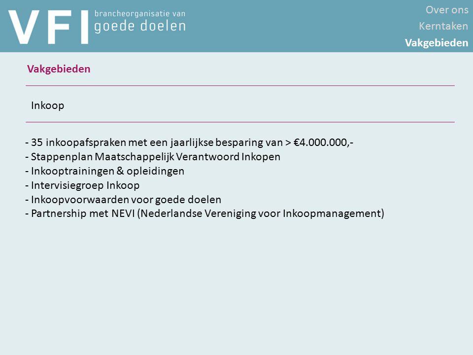 - 35 inkoopafspraken met een jaarlijkse besparing van > €4.000.000,- - Stappenplan Maatschappelijk Verantwoord Inkopen - Inkooptrainingen & opleidinge