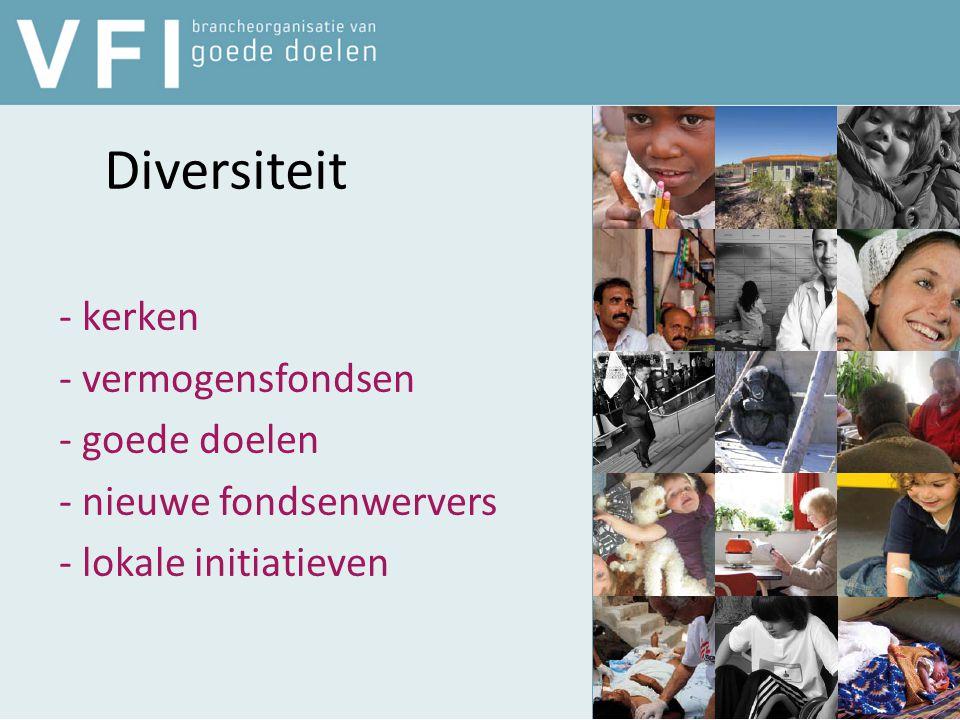 Diversiteit - kerken - vermogensfondsen - goede doelen - nieuwe fondsenwervers - lokale initiatieven
