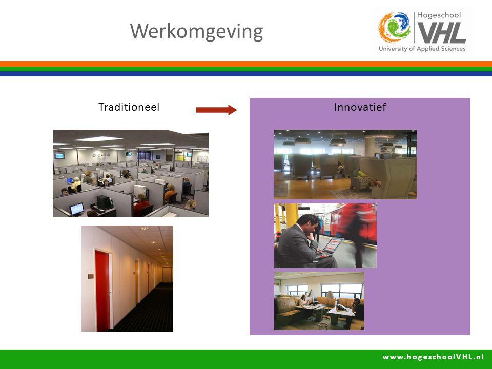 www.hogeschoolVHL.nl InnovatiefTraditioneel Werkomgeving