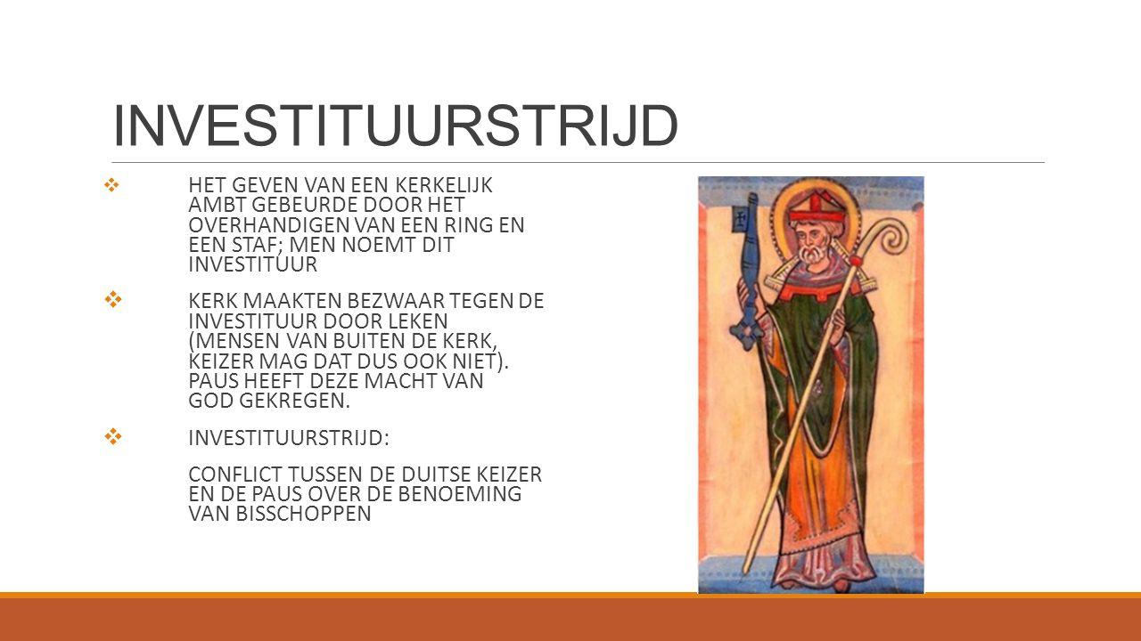 CONCORDAAT VAN WORMS 1122 PAUS BISSCHOP KEIZER GEESTELIJKE MACHT WERELDLIJKE MACHT: