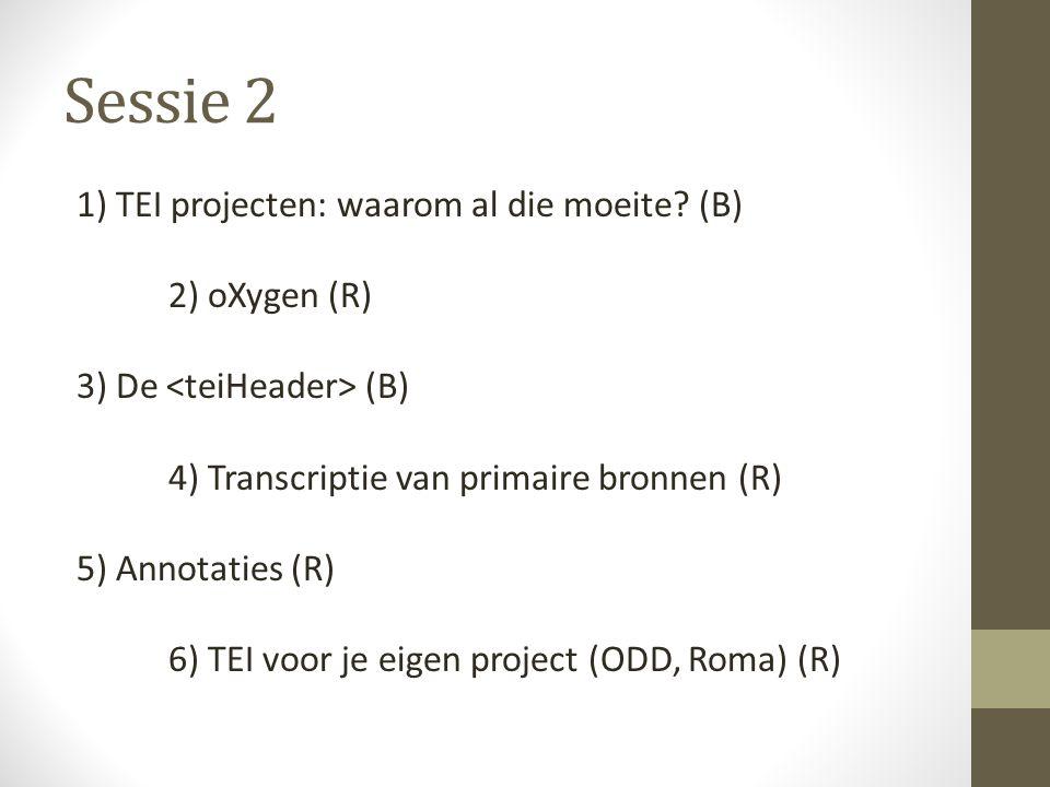 Sessie 2 1) TEI projecten: waarom al die moeite.