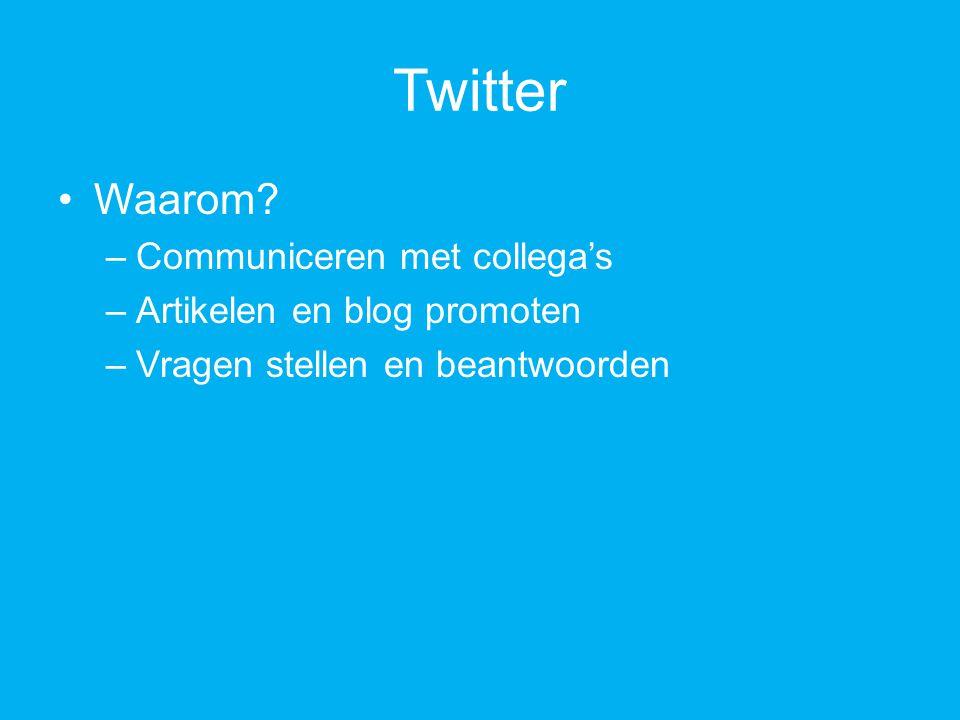 Twitter Waarom.
