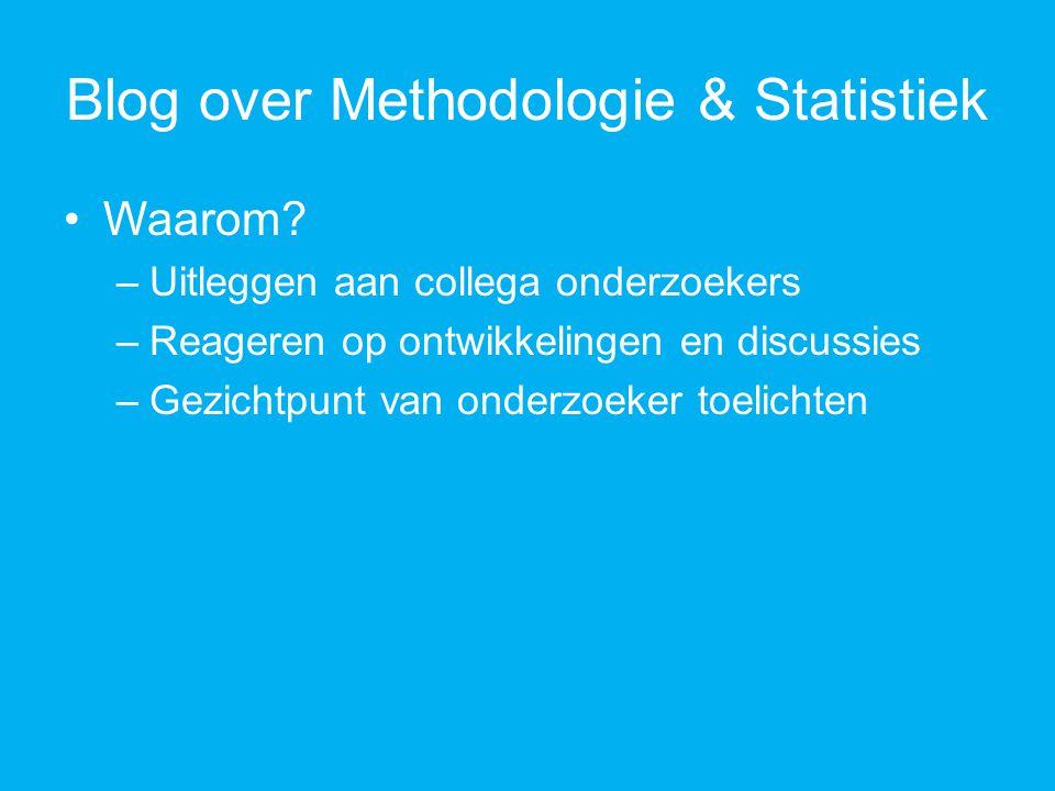 Blog over Methodologie & Statistiek Waarom.