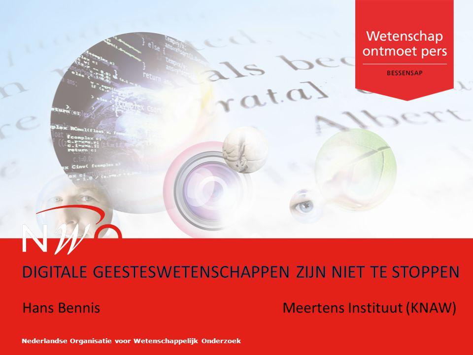 Nederlandse Organisatie voor Wetenschappelijk Onderzoek Hans BennisMeertens Instituut (KNAW)