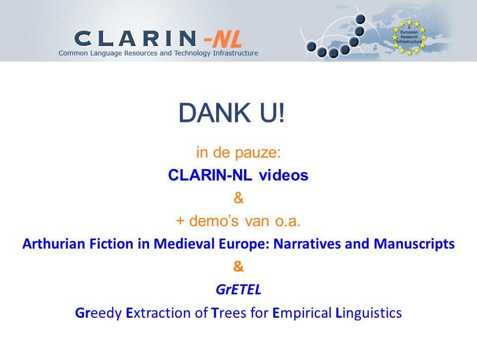 in de pauze: CLARIN-NL videos & + demo's van o.a.