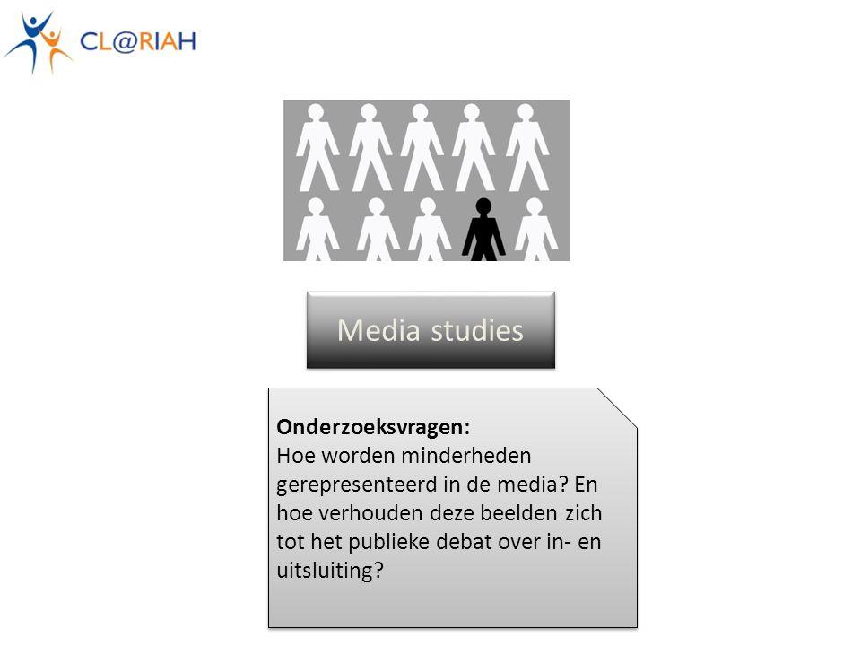 Media studies Onderzoeksvragen: Hoe worden minderheden gerepresenteerd in de media.