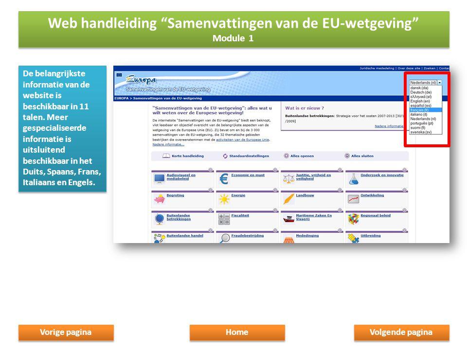 De belangrijkste informatie van de website is beschikbaar in 11 talen.