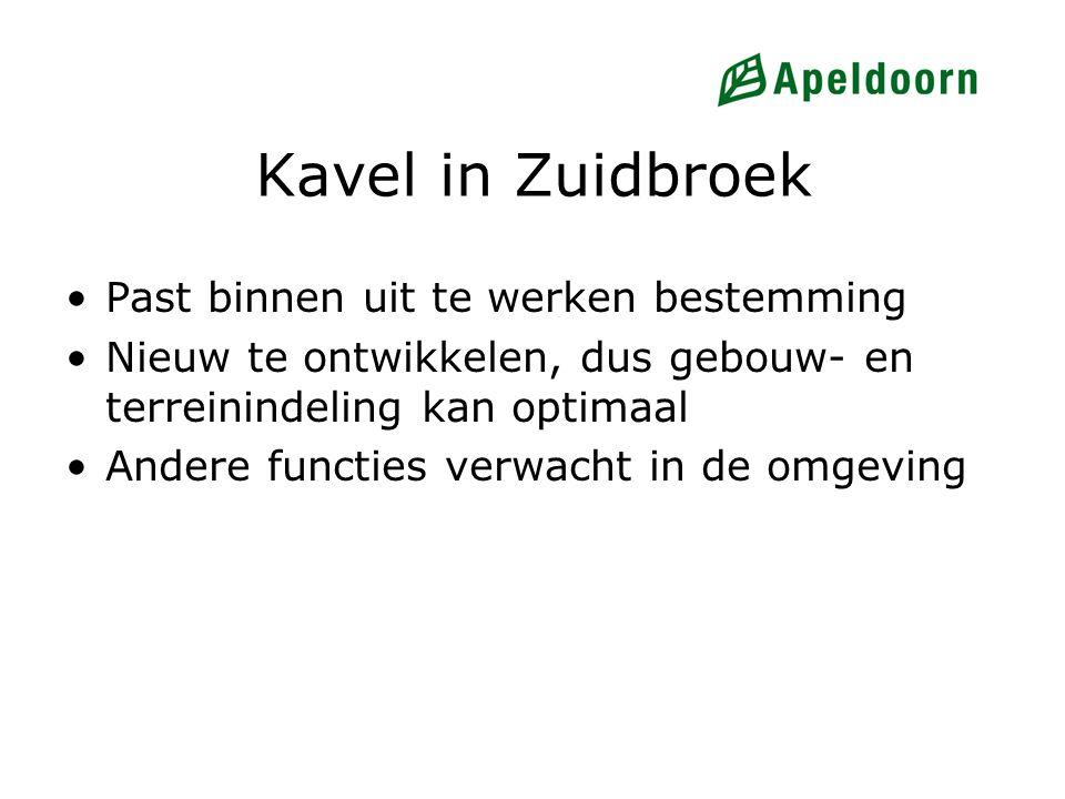 Kavel in Zuidbroek Past binnen uit te werken bestemming Nieuw te ontwikkelen, dus gebouw- en terreinindeling kan optimaal Andere functies verwacht in