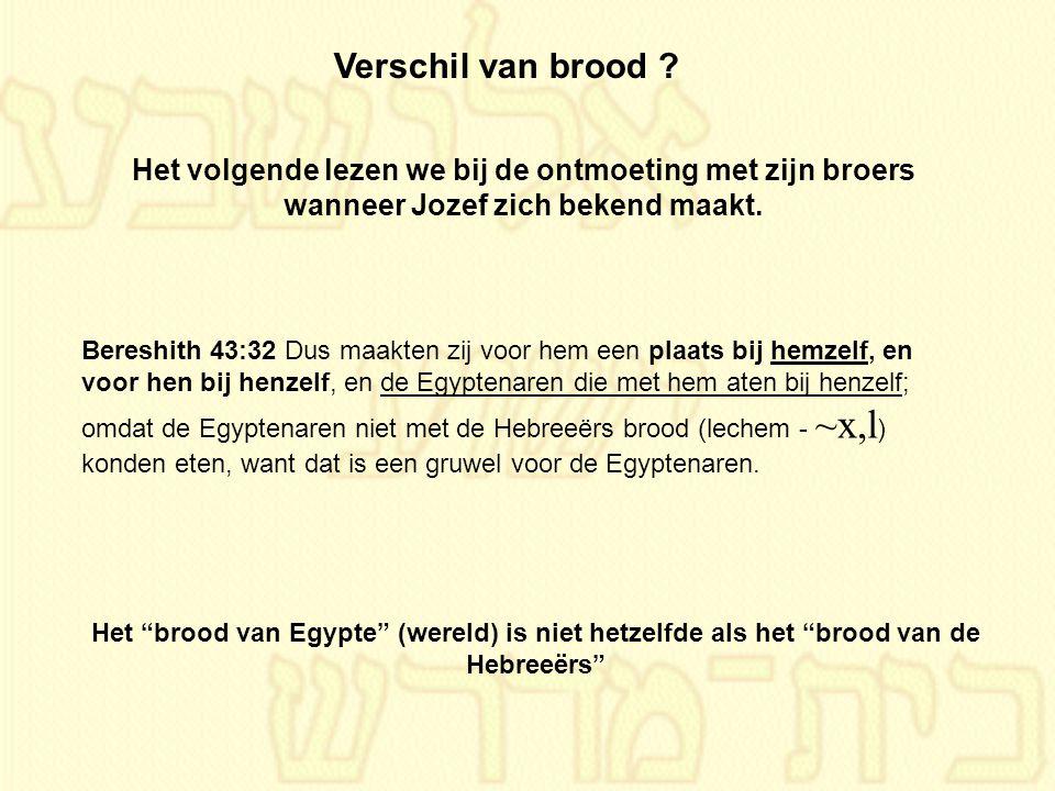 Bereshith 43:32 Dus maakten zij voor hem een plaats bij hemzelf, en voor hen bij henzelf, en de Egyptenaren die met hem aten bij henzelf; omdat de Egy