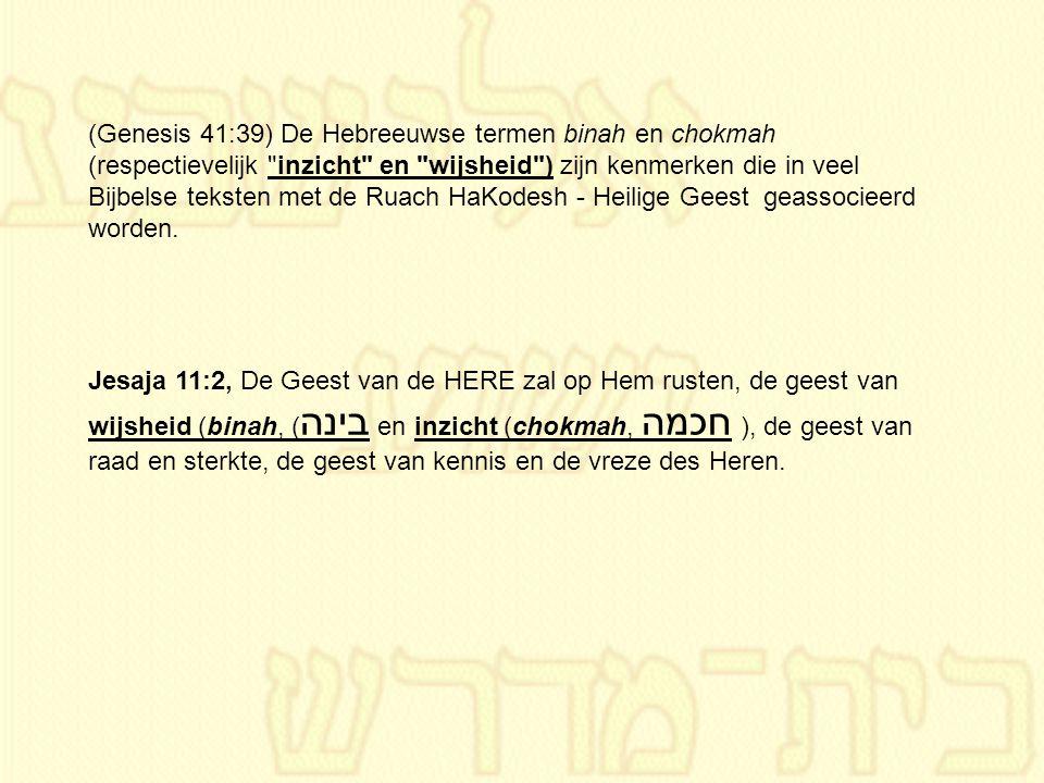 (Genesis 41:39) De Hebreeuwse termen binah en chokmah (respectievelijk