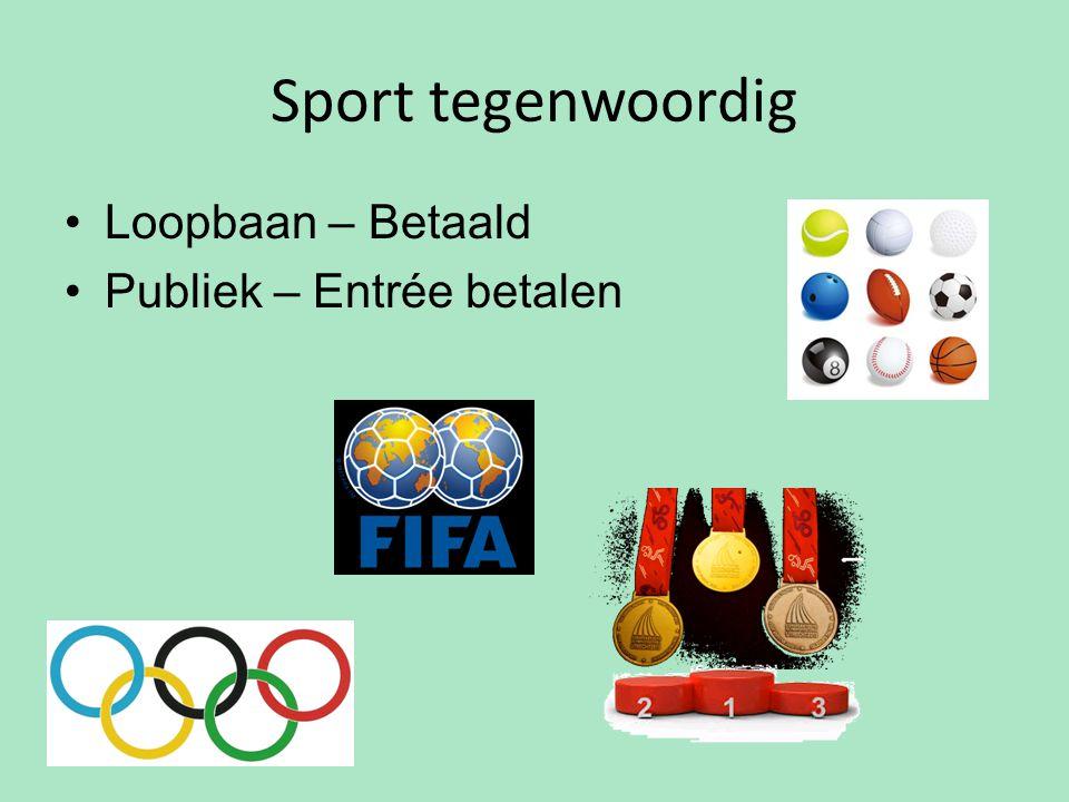 Sport tegenwoordig Loopbaan – Betaald Publiek – Entrée betalen