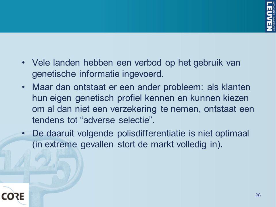 Vele landen hebben een verbod op het gebruik van genetische informatie ingevoerd.