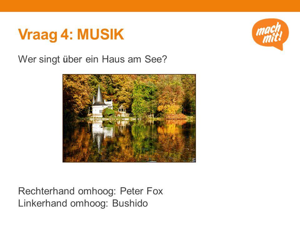 Vraag 4: MUSIK Wer singt ü ber ein Haus am See.