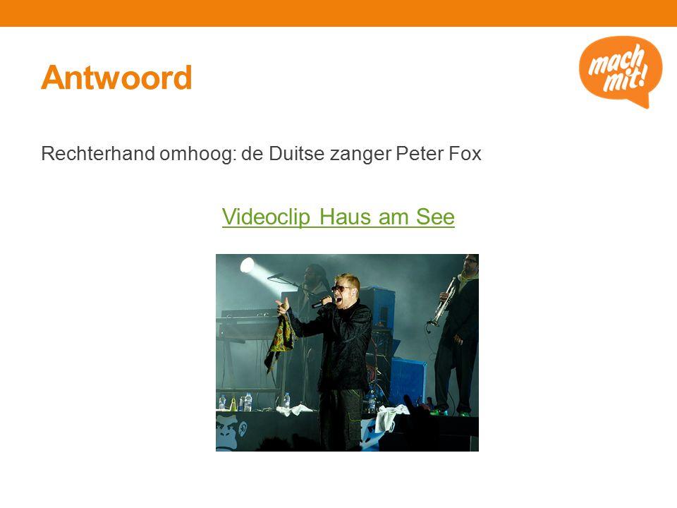 Antwoord Rechterhand omhoog: de Duitse zanger Peter Fox Videoclip Haus am See