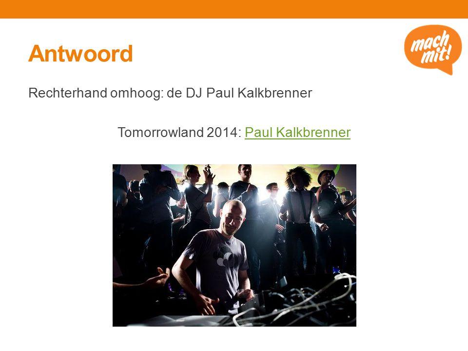 Antwoord Rechterhand omhoog: de DJ Paul Kalkbrenner Tomorrowland 2014: Paul KalkbrennerPaul Kalkbrenner