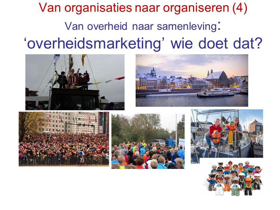 Van organisaties naar organiseren (4) Van overheid naar samenleving : 'overheidsmarketing' wie doet dat?